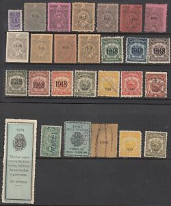 Salvador Revenues pre-1925 collection 27 diff stamps