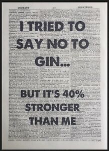 Funny Gin Quote Vintage Dictionary Page Print Picture Wall Art Tonic Bar Alcohol