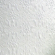 RD125 Anaglypta Textured Paintable Wallpaper Wallcovering Berkeley White