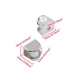 1/4/12PCS Zinc Alloy Glass Shelf Brackets Adjustable Support Shelf Clamp Holder