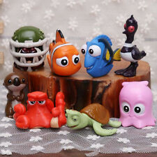 8pc DISNEY FINDING NEMO DORY ACTION FIGURE FIGURINES SET TOY CAKE AQUARIUM DECOR