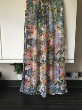 River Island maxi skirt 8 Lined Side split Festival Boho Summer Holiday