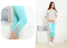 Blue Women Leggings Stretchy Casual Skinny Legging Slim Pencil Pants Trousers