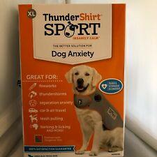 New listing ThunderShirt Sport Insanely Calm Dog Anxiety Treatment Shirt Platinum/Org Xl Nib