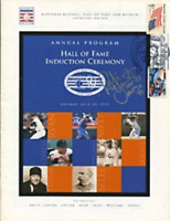 Robin Yount Autographed/Signed 1999 Hall of Fame Induction Ceremony Program