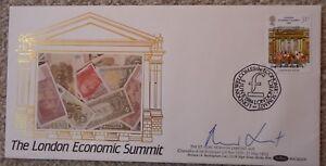 FDC MP Signed Norman Lamont, Ltd Ed COA 3 of 9, RARE, London Economic Summit