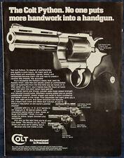 "ORIGINAL Advertising ""COLT Python .357 Mag., .38 Spl REVOLVER"" 1-p Magazine 1982"