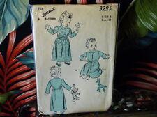 40s Advance Childs Robe Pattern 3295 1/20 breast