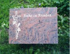 Grabmal, Grabsteine, Liegestein inkl.Inschrift und Ornament vom Steinmetz