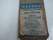 """RECORD JAWS & ROLLER FOR BOLT CUTTER  914F-14"""" STRAIT CUT  MADE IN ENGLAND"""