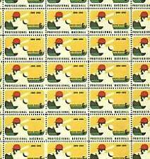 #1381  6¢ BASEBALL Mint sheet of 50 Missing tiny up left corner margin