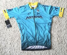 "New Giordana ASTANA Full Zip Replica Team Jersey Medium Fits 38"" Chest Ref:A22"