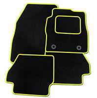 CITROEN 2CV TAILORED CAR FLOOR MATS CARPET BLACK MAT YELLOW TRIM