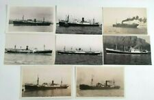 More details for clan line ships photo postcards x 8 - vintage shipping - merchant - cargo - boat