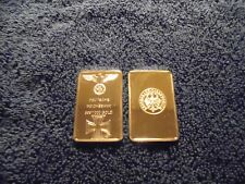 1 Troy Oz 24k Gold Clad Germany Bar Iron Cross WW2 WWII w/ Airtight case
