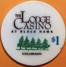 $1 Casino Chip. The Lodge, Black Hawk, CO. N86.