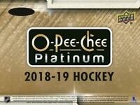 2018-19 O-Pee-Chee OPC Platinum Hockey Cards Pick From List