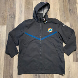 Nike Miami Dolphins Storm Fit 10 On Field Rain Coat Gray Size 2XL PLAYER ISSUED