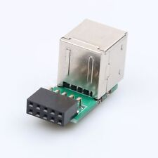 USB2.0 A Female Internal Header Adapter 9Pin Motherboard to Double Layer 2 F6S3