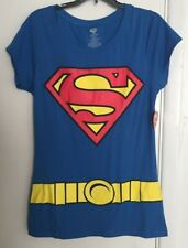 Superman Graphic T Shirt With Cape Junior Women's Size 2XL (19) 50/50 Super Hero