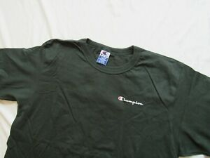 Vtg 90s Champion Spellout Green T Shirt Sz XL 00s Mint Shape 100% Cotton