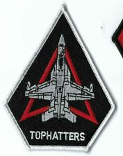 US NAVY PATCH VFA-14 STRIKE FIGHTER SQUADRON 'TOPHATTERS' F-18 HORNET NAS LEMORE