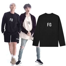 New BTS Suga RM FG Print Long Sleeve T-shirt Tee Kpop Kfashion Dance Practice