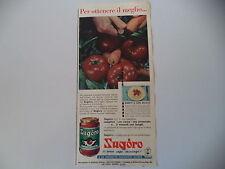 advertising Pubblicità 1957 SUGO SUGORO ALTHEA