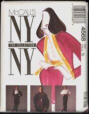 UNC 80s Size 10 Jacket Blouse Skirt NY Collection McCalls 4568 Pattern VTG Retro