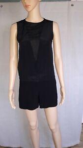 ° MAJE °- Combi-short noir modèle RONRON taille 34