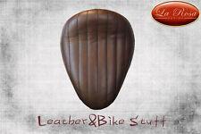 "La Rosa 13"" Harley Chopper Bobber Sportster Softail Dyna Seat Vinyl Brown Tuk"