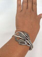 Carolyn Pollack sterling Silver 925 southwestern Ornate Hinge Cuff bracelet