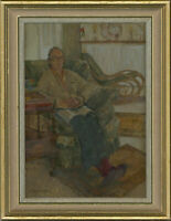 Paddy Curzon-Price (1922-2017) - Pair of 20th Century Oils, Seated Women