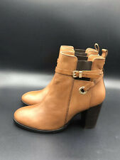 NEW Kurt Geiger Carvela Brown Tan Heeled Ankle Boots Shoe Size 8 41