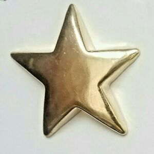 Big Gold Tone Star Shaped Plastic Shank Button 38mm Celestial Sewing Arts Crafts