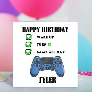 Personalised Birthday Card for Son Brother Friend Nephew Grandson Gaming Cards