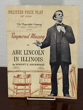 1939 ABE LINCOLN IN ILLINOIS PLAYBILL PULITZER PRIZE PLAY RAYMOND MASSEY
