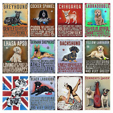 Dogs Retro Metal Signs/Plaques Man Cave, Cool Novelty Gift 3