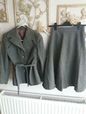 Vintage Grey wool Simon Howard skirt Suit 1940s style