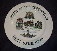 "Vintage Grotto, West Bend, Iowa  Collectors Plate- 9.25""D"