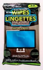 Cleaning Wipes for LCD Screen Monitors TV Laptop Tablets & More (25 Piece Pack)