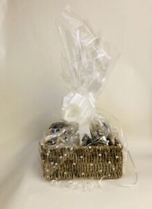 Square seagrass make your own hamper gift basket, cellophane bow choose size kit
