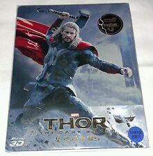 New Marvel Thor Dark World Blu-ray 3D+2D Steelbook™ KimchiDVD 1/4 Slip 45/300