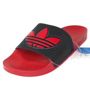 Adidas Originals Adilette Trefoil Slides Mens Sandal Sz12 Rubber Red 045734 DS