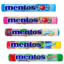 MENTOS ROLLS CHEWY DRAGEES SWEETS CANDY ASSORTED FLAVOURS 10/20/40 (FULL BOX)