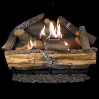 Cedar Ridge Hearth Recon 24-in 32,000-BTU Dual-Burner Ventless Gas Fireplace Log