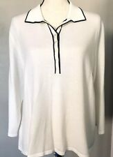 Norton McNaughton Popover Knit Top Women XL Pullover Career Casual Modest Cream