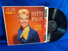 Patti Page LP Page 1 Mercury MG 20095 1957