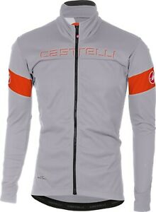 Castelli Men's Transition Gore Windstopper Cycling Jacket Grey Large