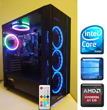 Gaming PC Desktop Intel Core i7 3.8GHz/RX 570 8GB/SSD/16GB RAM/1TB HDD/RGB